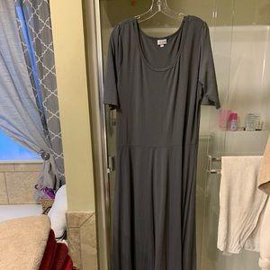 Lula Roe Grey Maxi Dress